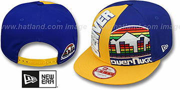 Nuggets 'NE-NC DOUBLE COVERAGE SNAPBACK' Hat by New Era