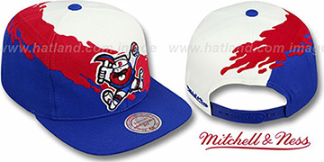 Nuggets PAINTBRUSH SNAPBACK White-Red-Royal Hat by Mitchell & Ness