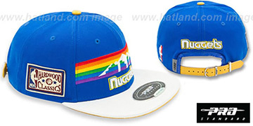 Nuggets 'RETRO-BASIC STRAPBACK' Royal-White Hat by Pro Standard
