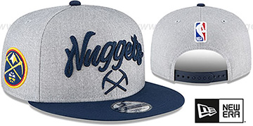 Nuggets ROPE STITCH DRAFT SNAPBACK Grey-Navy Hat by New Era