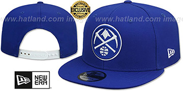 Nuggets TEAM-BASIC SNAPBACK Royal-White Hat by New Era