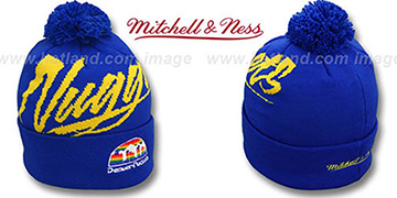 Nuggets 'VICE BEANIE' Royal by Mitchell and Ness