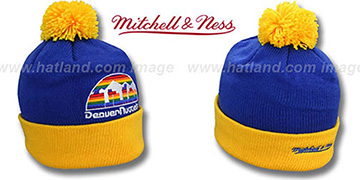 Nuggets 'XL-LOGO BEANIE' Royal by Mitchell and Ness