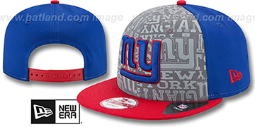 NY Giants '2014 NFL DRAFT SNAPBACK' Royal-Red Hat by New Era