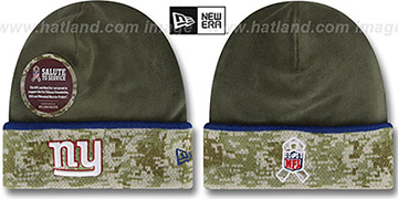 NY Giants '2014 SALUTE-TO-SERVICE' Knit Beanie Hat by New Era