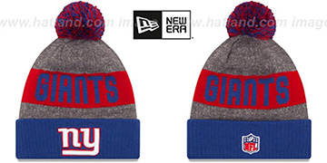 NY Giants '2016 STADIUM' Royal-Red-Grey Knit Beanie Hat by New Era