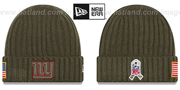 NY Giants '2017 SALUTE-TO-SERVICE' Knit Beanie Hat by New Era