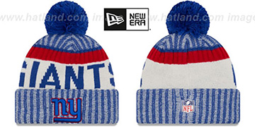 NY Giants '2017 STADIUM BEANIE' Royal Knit Hat by New Era