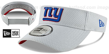 NY Giants '2018 NFL TRAINING VISOR' Grey by New Era
