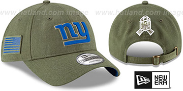 NY Giants 2018 SALUTE-TO-SERVICE STRAPBACK Olive Hat by New Era