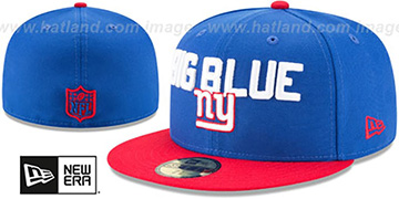 NY Giants '2018 SPOTLIGHT' Royal-Red Fitted Hat by New Era