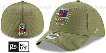 NY Giants 2019 SALUTE-TO-SERVICE FLEX Olive Hat by New Era