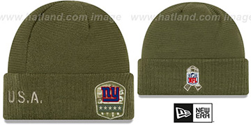 NY Giants 2019 SALUTE-TO-SERVICE Knit Beanie Hat by New Era