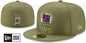 NY Giants 2019 SALUTE-TO-SERVICE Olive Fitted Hat by New Era