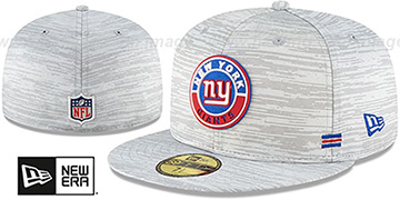 NY Giants 2020 ONFIELD STADIUM Heather Grey Fitted Hat by New Era