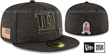 NY Giants 2020 SALUTE-TO-SERVICE ST Black Fitted Hat by New Era