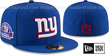 NY Giants 4X 'TITLES SIDE-PATCH' Royal Fitted Hat by New Era