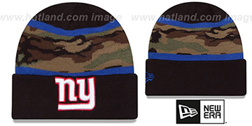 NY Giants ARMY CAMO FILLZ Knit Beanie Hat by New Era