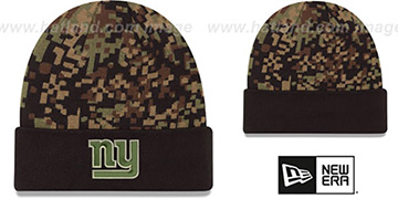 NY Giants ARMY CAMO PRINT-PLAY Knit Beanie Hat by New Era