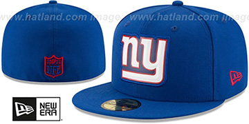 NY Giants BEVEL Royal Fitted Hat by New Era