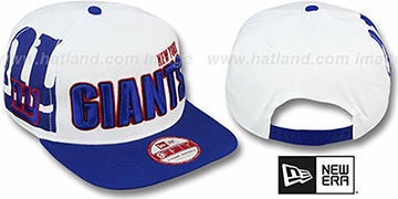 NY Giants 'BIGSIDE A-FRAME SNAPBACK' White-Royal Hat by New Era