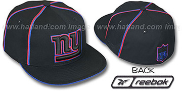 NY Giants BLACK SOUTACHE Fitted Hat by Reebok