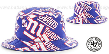 NY Giants 'BRAVADO BUCKET' Hat by Twins 47 Brand