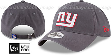 NY Giants CORE-CLASSIC STRAPBACK Charcoal Hat by New Era