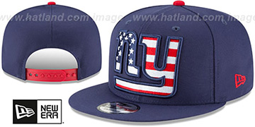 NY Giants FLAG FILL INSIDER SNAPBACK Navy Hat by New Era