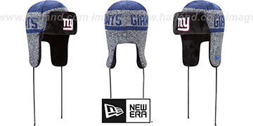 NY Giants FROSTWORK TRAPPER Royal Knit Hat by New Era