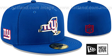 NY Giants GOLD STATED INSIDER Royal Fitted Hat by New Era
