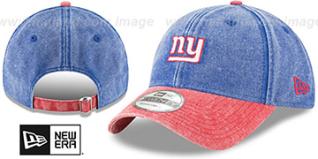 NY Giants 'GW RUGGED CANVAS STRAPBACK' Royal-Red Hat by New Era