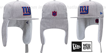 NY Giants HEATHER-DOGEAR Light Grey Fitted Hat by New Era