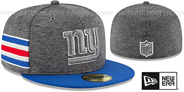 NY Giants HOME ONFIELD STADIUM Charcoal-Royal Fitted Hat by New Era