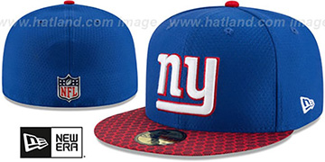 NY Giants 'HONEYCOMB STADIUM' Royal Fitted Hat by New Era