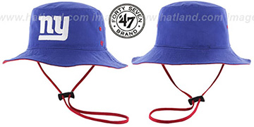 NY Giants 'KIRBY BUCKET' Royal Hat by Twins 47 Brand