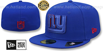 NY Giants 'LEATHER POP' Royal Fitted Hat by New Era