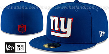 NY Giants METAL-N-THREAD Royal Fitted Hat by New Era
