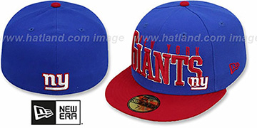 NY Giants 'NFL 2T CHOP-BLOCK' Royal-Red Fitted Hat by New Era