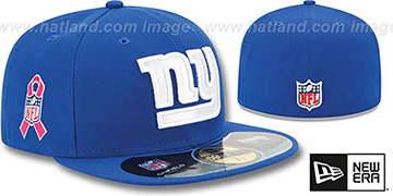 NY Giants NFL BCA Royal Fitted Hat by New Era