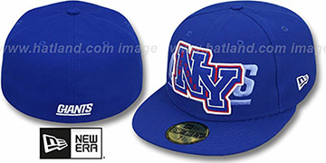 NY Giants 'NFL FELTN' Royal Fitted Hat by New Era