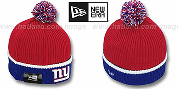 NY Giants 'NFL FIRESIDE' Red-Royal Knit Beanie Hat by New Era