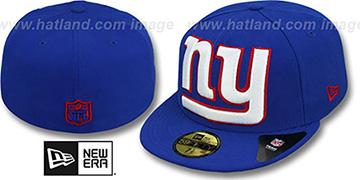 NY Giants NFL MIGHTY-XL Royal Fitted Hat by New Era