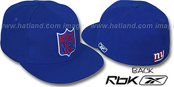 NY Giants 'NFL-SHIELD' Royal Fitted Hat by Reebok