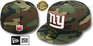 NY Giants NFL TEAM-BASIC Army Camo Fitted Hat by New Era