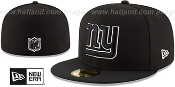 NY Giants NFL TEAM-BASIC Black-White Fitted Hat by New Era