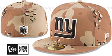 NY Giants NFL TEAM-BASIC Desert Storm Camo Fitted Hat by New Era