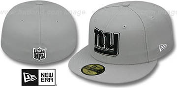 NY Giants 'NFL TEAM-BASIC' Grey-Black-White Fitted Hat by New Era
