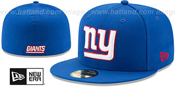 NY Giants 'NFL TEAM-BASIC' Royal Fitted Hat by New Era