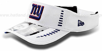 NY Giants 'NFL TRAINING' White Visor by New Era
